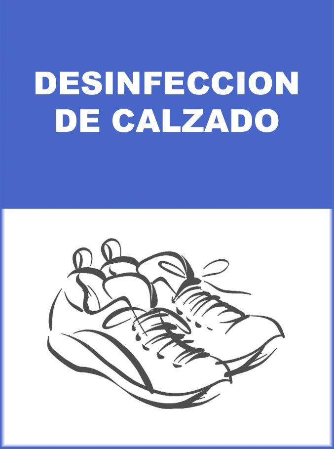 DESINFECCION DE CALZADO